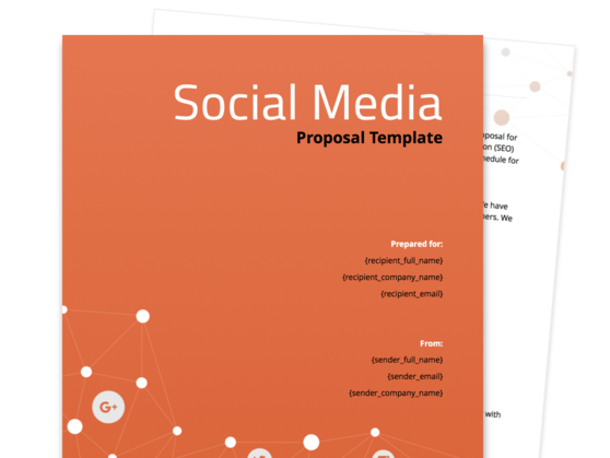 Social Media Proposal Template  Company Proposal Template