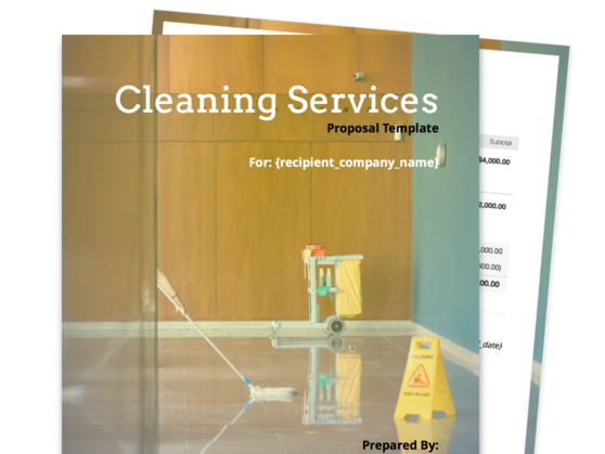 Cleaning Proposal Template Proposable
