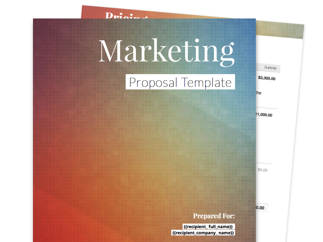 Free Business Proposal Templates – Marketing Proposal Samples