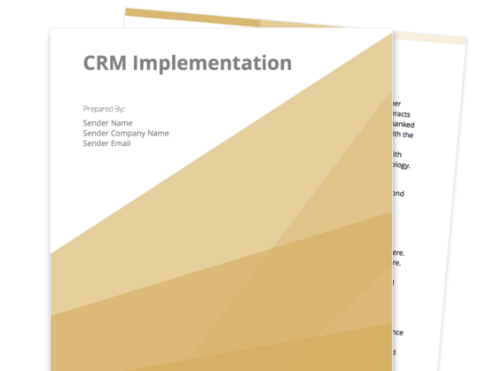 CRM Implementation Proposal Template  Company Proposal Template
