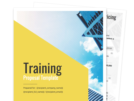 Training Proposal Template