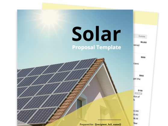 Solar Proposal Template Proposable