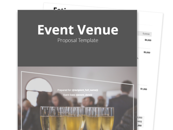 Venue Proposal Template