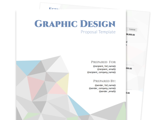 graphic design proposal template proposable